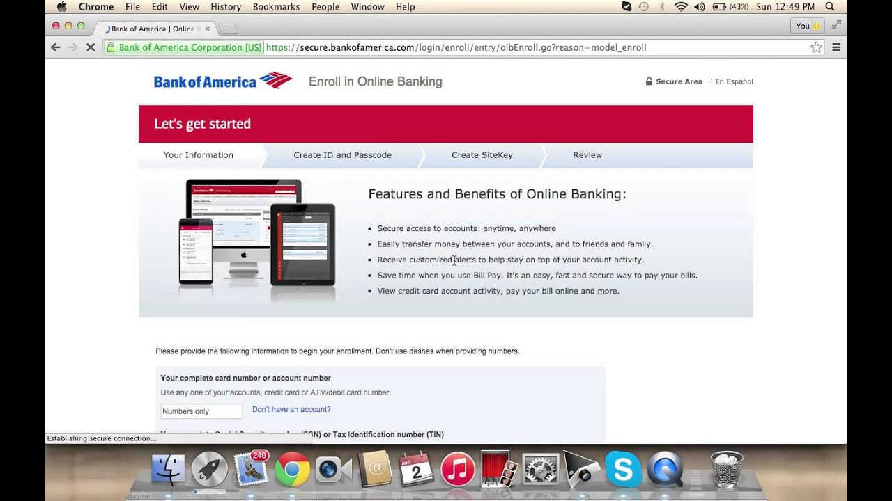 Bank Of America Online Banking Login How To Access Your Account
