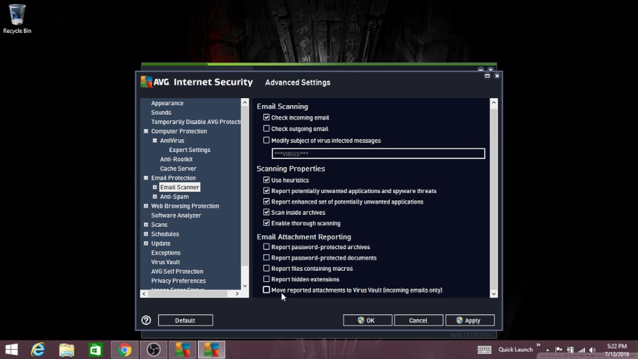 how to temporarily disable avg internet security