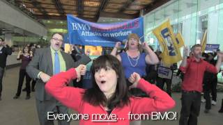 Occupy Toronto & Steelworker Flash Mob: BMO Help End Infinity Rubber Strike!