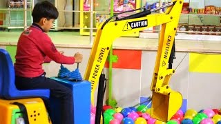 Excavator truck backhoe truck video for children kids toddlers and little boys