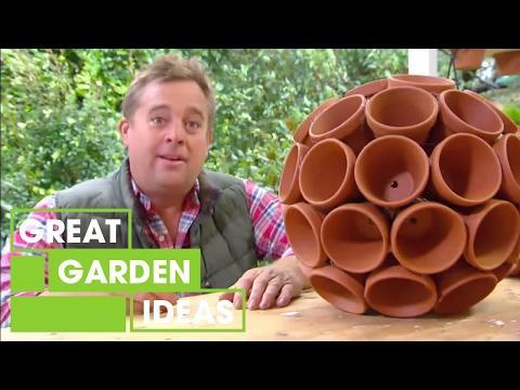 Jason creates some funky terracotta garden art | Great Home Ideas
