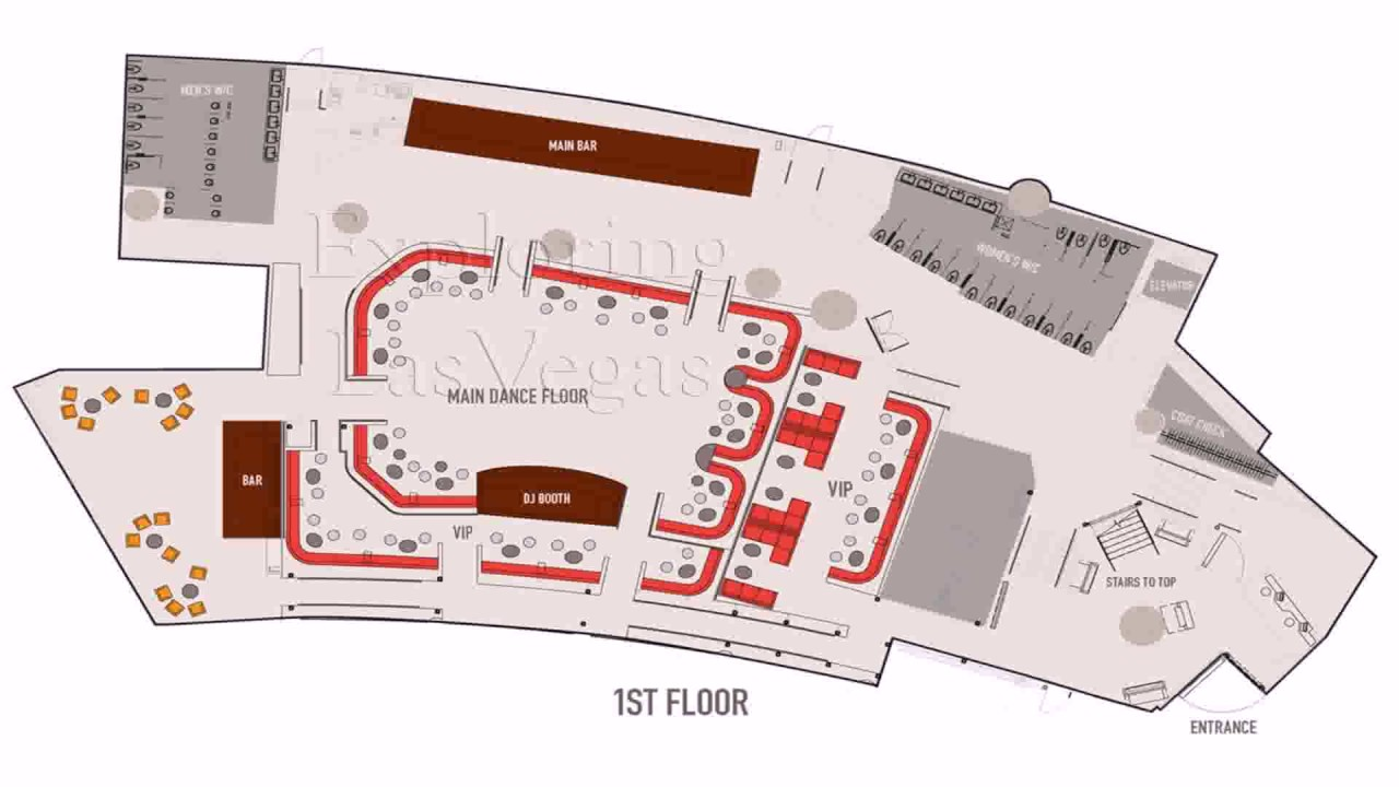 nightclub floor plan