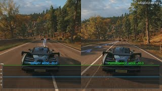Forza Horizon 4 Demo - Quality vs Performance Mode (Xbox One X)