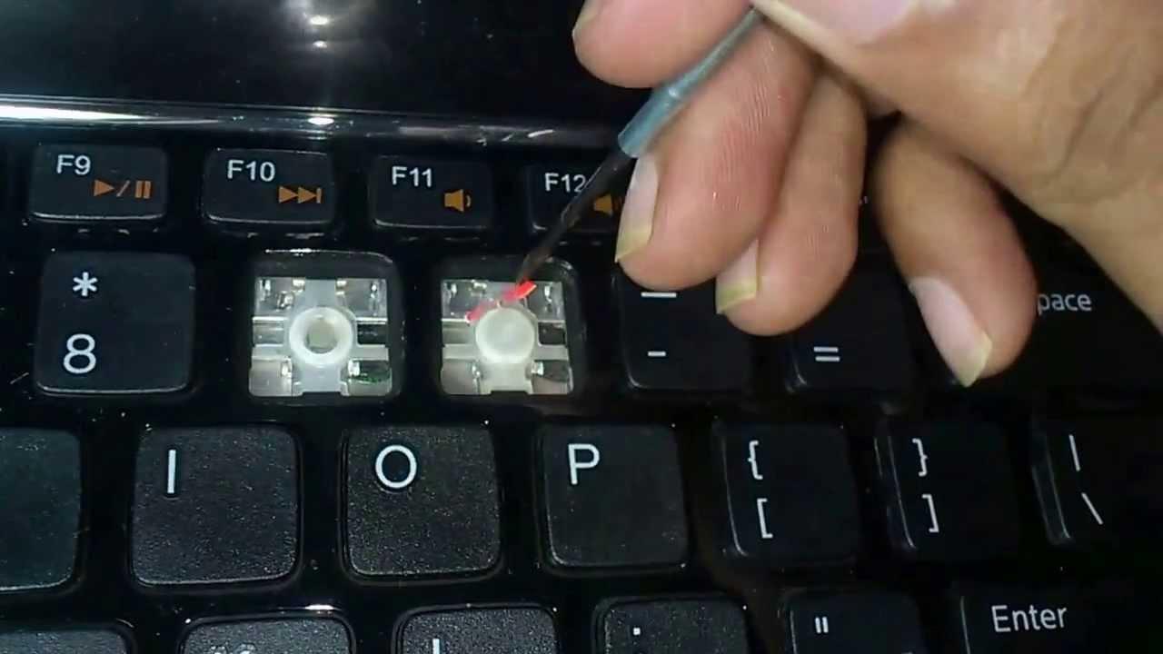 How I fix my dell inspron N5110 stuck key