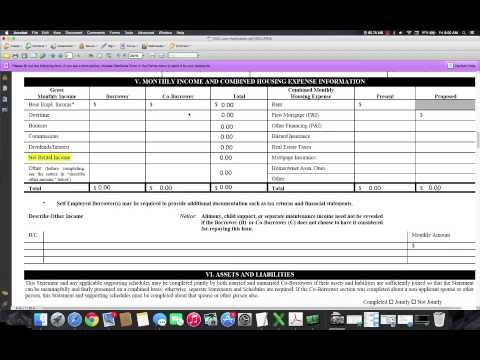 Stated Income Loans 1003 Loan Application Instructions Youtube