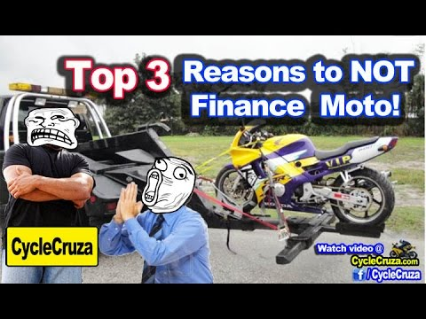 Top 3 Reasons To AVOID Financing a Motorcycle! | MotoVlog