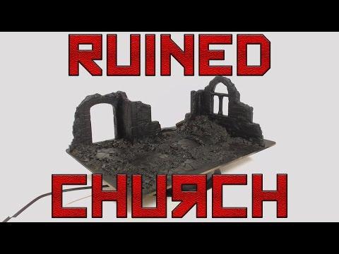 Italeri Church Ruins Kits - Modified For Wargaming