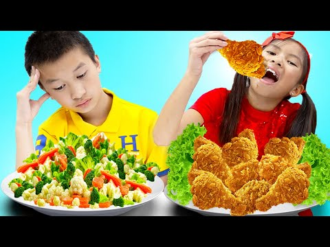 Wendy And Andrew Learn To Share Food And Pretend Cook Toy Food