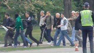 Одесса, 02.05.14, первое нападение, ЖД