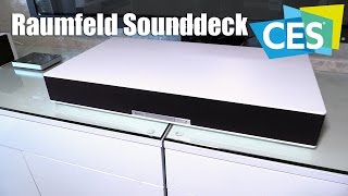 Raumfeld Sounddeck mit Wellenfeld-Technologie (CES 2016) | Allround-PC.com