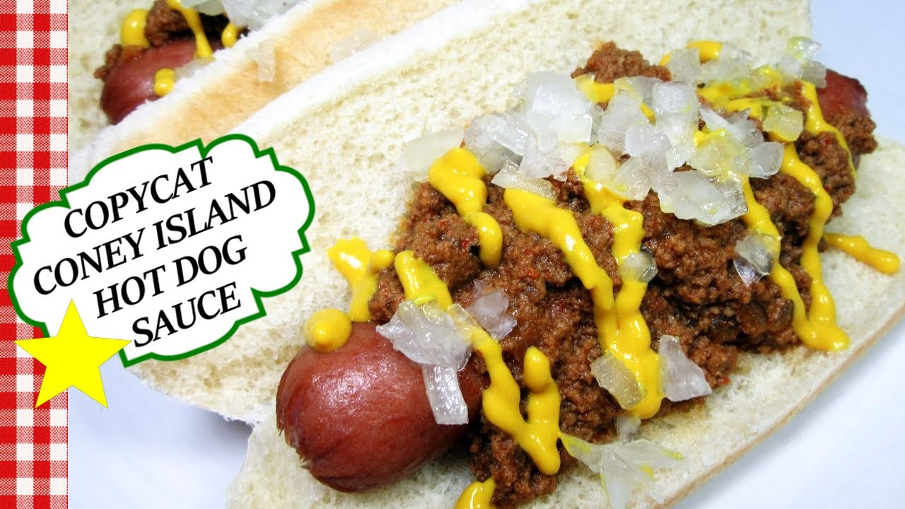 Copycat Original Coney Island Hot Dog Meat Chili Sauce Recipe Youtube