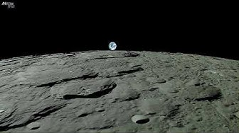 Earthrise - Planet Earth Seen From The Moon - Real Time Journey Across The Lunar Surface