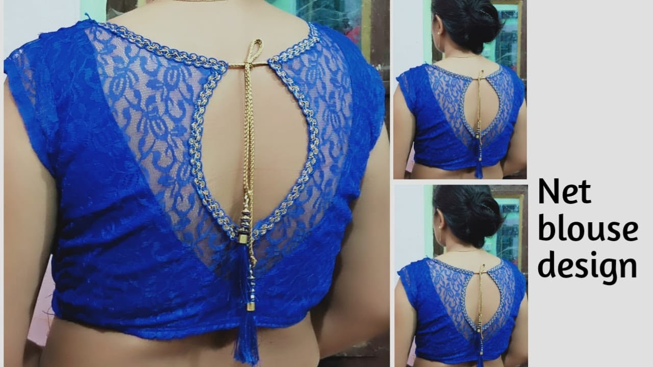 Very beautiful new letest net blouse design cutting and stitching