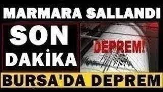Bursa'dan KÖTÜ Haber! Şiddetli Korkutan DEPREM! SON DAKİKA Açıklaması