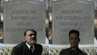 Hitler is informed that Regular Show got cancelled and Adventure Time will End