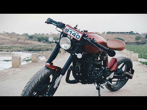 Modified Yamaha​ FZ 16 into Caferacer By Indi Custom Garage