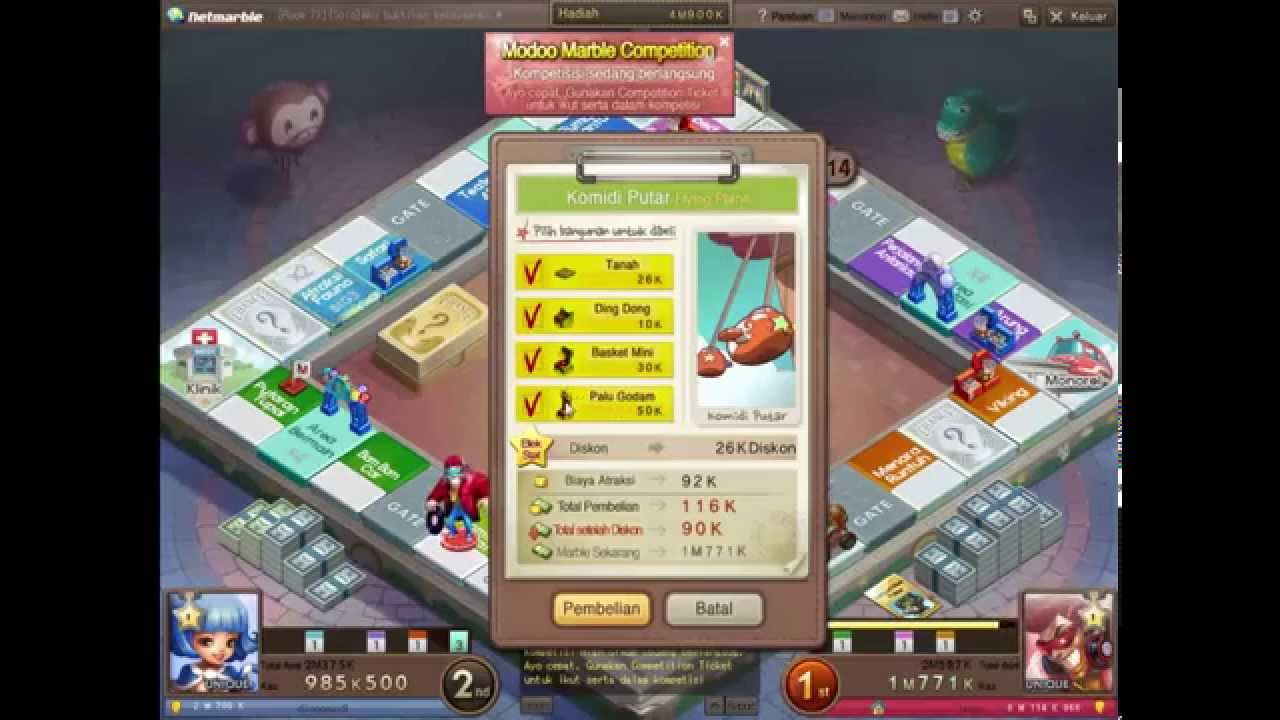Game Online Modoo Marble Youtube