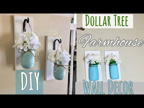 Farmhouse Decor DIY||Dollar Tree||Mason Jar Sconces||Decorate With Me||Summer Decor DIY