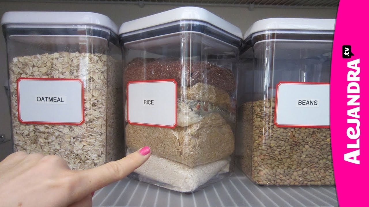 Organizational Tips Rice Storage in the Kitchen Pantry YouTube