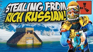 STEALING EVERYTHING from SUPER RICH RUSSIAN! - Rust Solo Survival Gameplay