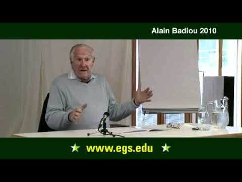 Alain Badiou. What is Philosophy? (Part I). 2010.