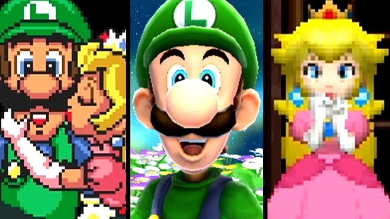 Super Mario Evolution of LUIGI RESCUES PEACH 1985-2013 (NES to Wii U)
