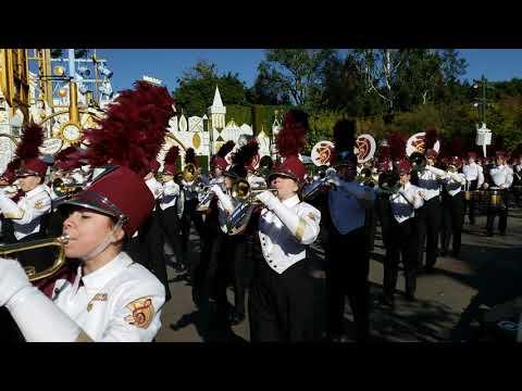 Lassiter High School Marching Trojan Band at the Disneyland Parade - December 28 2018