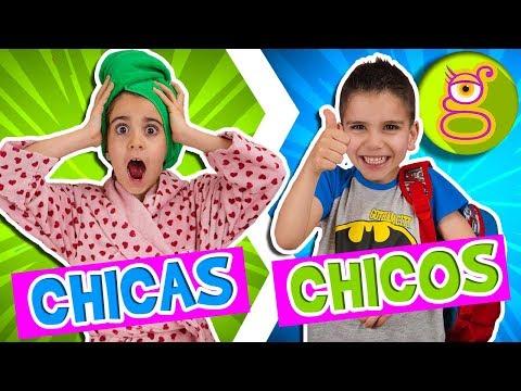 RUTINA de MAÑANA: Chicos VS Chicas