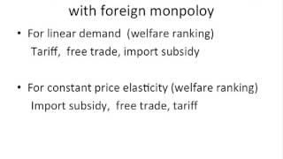 Ranking imports policies with foreign monopoly