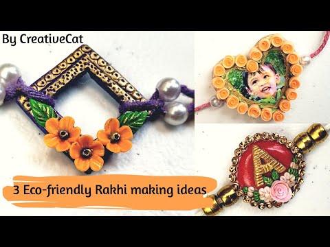 Eco-friendly Rakshabandhan 2019/Photo rakhi/Personalised initial rakhi/designer rakhi/clay rakhi