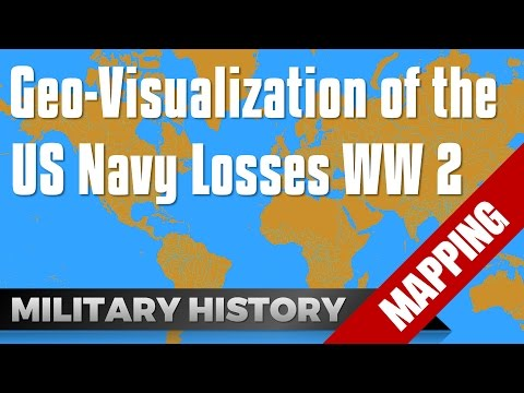 Visualization US Navy Losses in World War 2 #Mapping #GIS