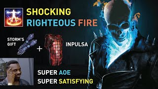 """【""""Shocking"""" Righteous Fire】- Meme or Masterpiece? (Storm's Gift + Inpulsa COMBO) AOE-Stacking Meme !"""