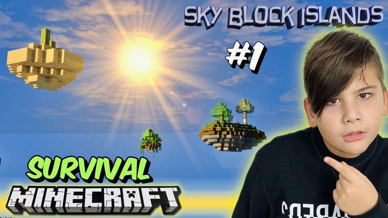 Επιβίωση στα ιπτάμενα νησιά Sky block islands Survival Minecraft Famous Games @Let's Play Kristina