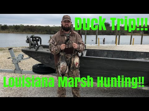 Duck Hunting: Duck Trip!! Louisiana Marsh
