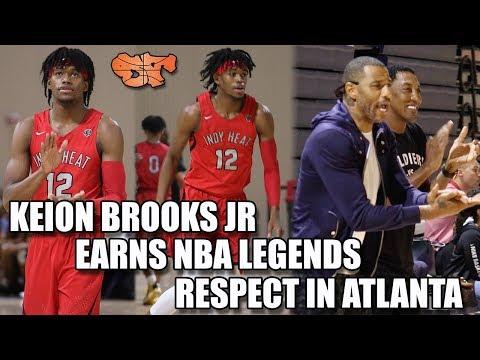 KEION BROOKS JR. EARNS NBA LEGENDS RESPECT IN ATLANTA