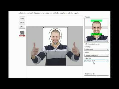 How to create passport photo at home