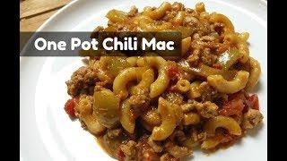 One Pot Chili Mac ~ Easy Skillet Dinner ~ Homemade Hamburger Helper Chili Macaroni