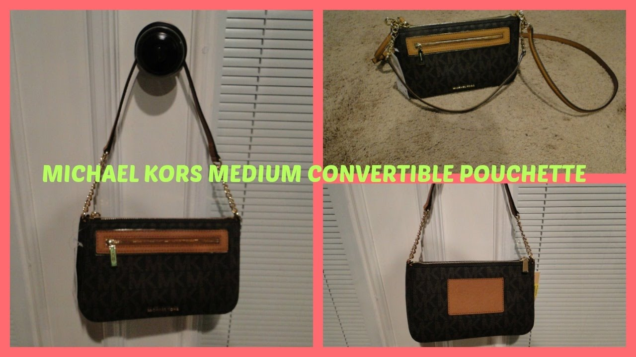 9cef6cf4d3bd Michael Kors Medium Convertible Pouchette - YouTube