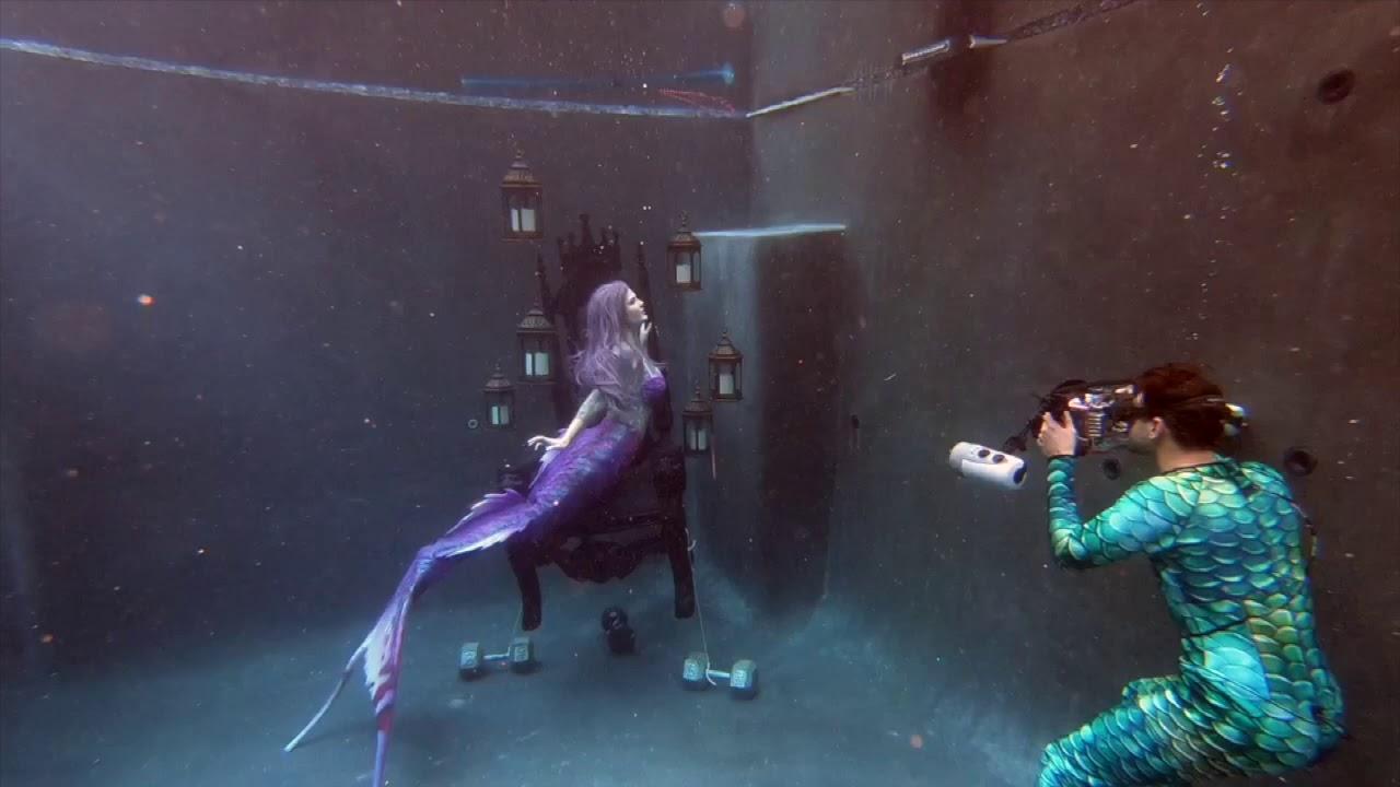 Behind the Scenes Underwater Mermaid Photo Shoot - YouTube