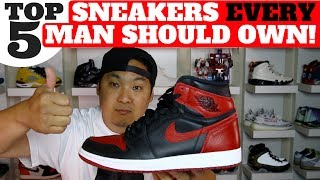 Zapętlaj TOP 5 SNEAKERS EVERY MAN SHOULD OWN!! | Hes Kicks
