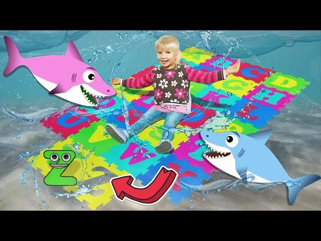 ABC Alphabet Phonics Nursery Rhymes Songs for Kids with Alinka and Kids Sharks