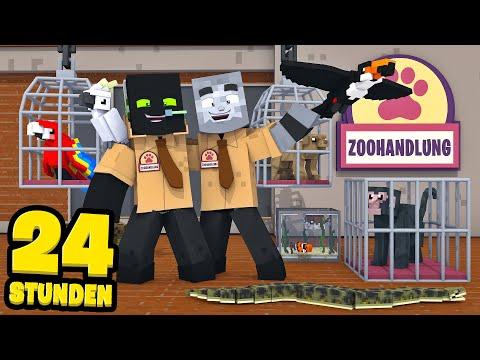 24 STUNDEN Im TIERLADEN ARBEITEN! - Minecraft [Deutsch/HD]