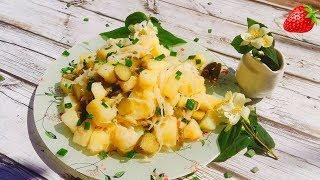 Деревенский салат с квашеной капустой