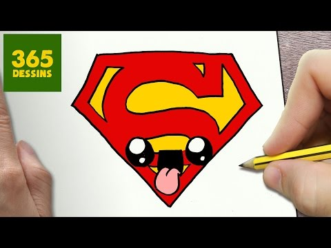 Comment Dessiner Logo Superman Kawaii étape Par étape