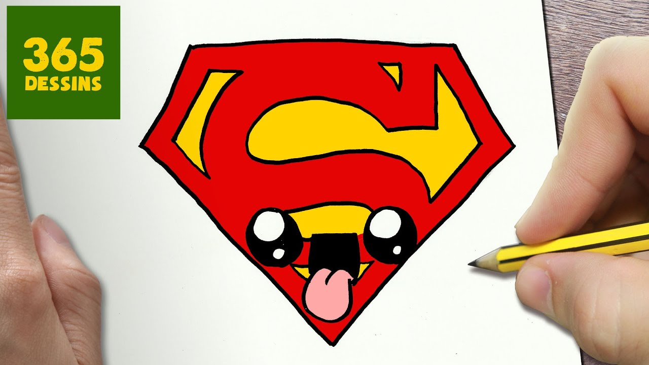 Comment Dessiner Logo Superman Kawaii étape Par étape Dessins Kawaii Facile