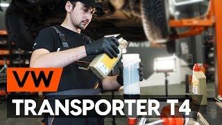 unten vorne/hinten Querlenker beim VW TRANSPORTER IV Bus (70XB, 70XC, 7DB, 7DW) montieren: kostenlose Video