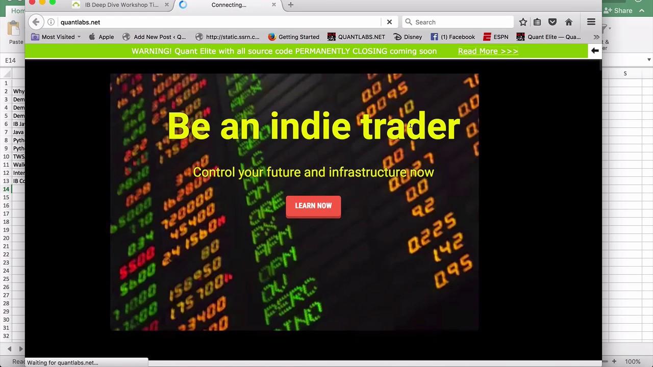 Interactive Brokers API workshop video list