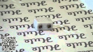 Rozdvojka 3,5mm audio jacku - bílá
