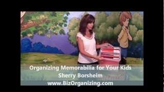 Organizing Kids Artwork - Use a File Tote to Organize Kids Artwork Thumbnail