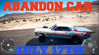 Need For Speed Abandon Car Location ***July 17th ***